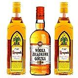 Polnischer Vodka 2 Flaschen Krupnik Likör / 1 Flasche Zoladkowa Gorzka Gesamt 1,5 Liter