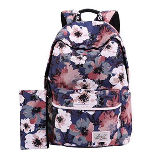 Mocha weir JIAYBL Laptop Taschen Schultern Kinder Schultaschen Rucksack Hochschule Mädchen Canvas Pack reisen (Pack Färbung Bücher)