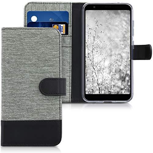 kwmobile Asus Zenfone Max Plus (M1) Hülle - Kunstleder Wallet Case für Asus Zenfone Max Plus (M1) mit Kartenfächern & Stand