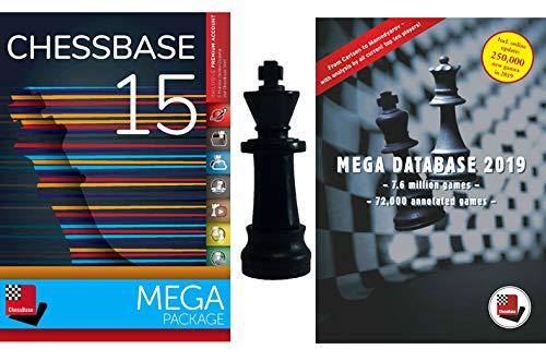 ChessBase 15 Mega Package: ChessBase 15 Chess Database Management Software Program Bundle with Mega Database 2019 & ChessCentral Chess King Flash Drive