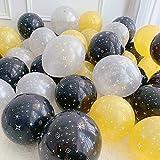 Decoración del partido, 20pcs de 10 pulgadas espacio fuentes del tema del partido Globos Foil astronauta cohete fiesta al aire cumpleaños globos de látex impresos estrella, 2