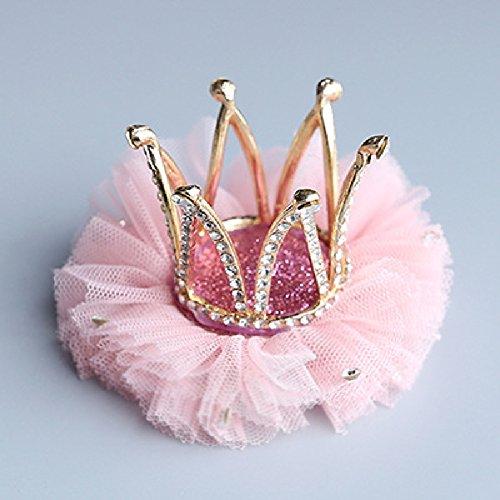 Santfe Haarclip Haarspange Baby Kind Mädchen Krone Prinzessin Gold Glitzer Spitze...