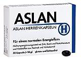 ASLAN Herrenkapseln 1-Monats Kur - für Power, Nervenstärke, Manneskraft, Fruchtbarkeit, Fertilität - mit Zink für Ihren Testosteronspiegel – natürliche Energiebausteine für aktive Männer mit purer Lebensfreude