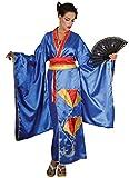 Déguisement Kimono Bleu