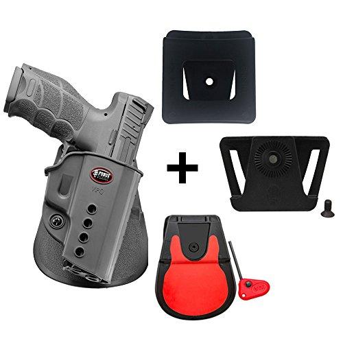 Fobus verdeckte Trage Retention Pistolenholster Rotation Paddle Holster + Gürteladapter + 6cm breiter Gürteladapter für Polizei und Dienstgürtel für Heckler&Koch H&K VP9, USP Full Size/P8