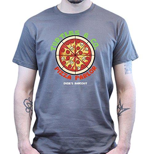 Teenage Turtles PIzza and Co. Mutants Parlor T-shirt Dunkelgrau