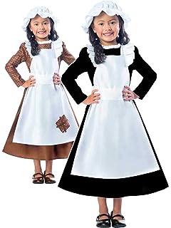 Girls Florence Nightingale Costume Victorian Nurse Fancy Dress Book Week Outfit