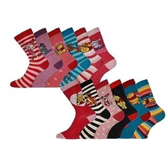 New Season Official DISNEY WINNIE POOH Ladies girls Socks size 4-6 3 Pair Pack