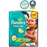 Couches Pampers Baby-Sec Taille 5 + Conditionnement Mensuel - 132 Couches