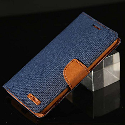 Imported & Original Luxury Canvas Mercury Wallet Case Mobile Flip Cover For Apple iPhone 4/4S (Blue)  available at amazon for Rs.259