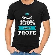 fffc4b30e1da3 Calledelregalo Regalo para Profesores Personalizable  Camiseta  SuperProfe   Personalizada con su Nombre (Negro