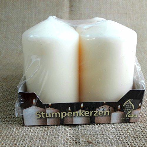 Brauns-Heitmann Edel Stumpenkerzen 80x45mm,champagnewr/creme, Ideal für den Adventskranz, Weihnachtsgesteck, Weihnachtsdeko, Weihnachtskerzen,4er Pack (2 Pakete á 4 Stück) (8)