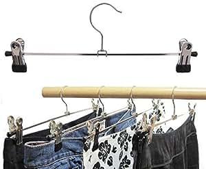HagspielKleiderbügel aus Metall, Klammernbügel 30 cm, 10 Stk. (Hosenbügel)