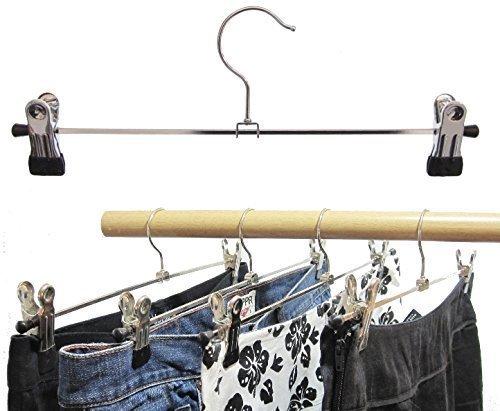 Cintre Pince Pantalon en Métal 30 cm - 10 pièces