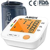 ABOX Tensiómetro de Brazo Digital, largo manguito y preciso resultado con detección del pulso arrítmico, memoria.