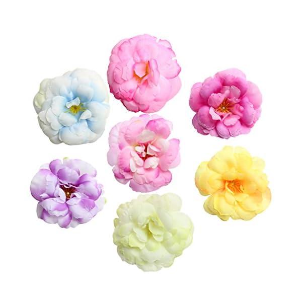 MagiDeal 10 Piezas Cabeza de Flores Elegante de Camelia Artificial Favores para Boda Fiesta Multicolor – Multicolor