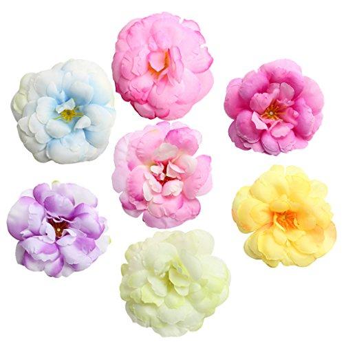 MagiDeal 10er Set Vintage Seidenrosen Künstliche Blumen Köpfe Blütenköpfe Kunstblumen Hochzeit Party Deko - Mehrfarbig