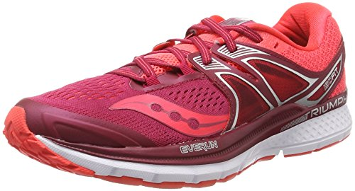 Saucony Damen Triumph ISO 3 Laufschuhe, Pink (Berry/Coral), 43 EU (Triumph Saucony Laufschuhe)