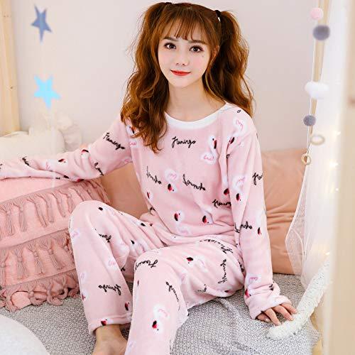 Yshuiyi Pyjamas Herbst Und Winter Dicke Flanell Korallen Fleece Mädchen Pyjamas Home Service Anzug