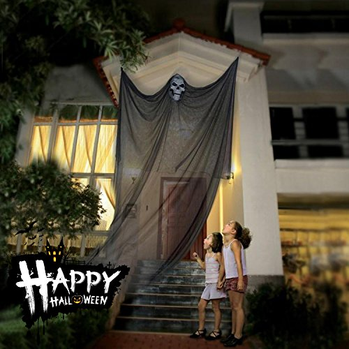 Halloween Dekoration Hanging Ghost Decor Prop Hexe Vorhang für Outdoor Party Dekorationen Hallowmas Creepy Tuch - Schwarz (Outdoor Halloween Dekoration)