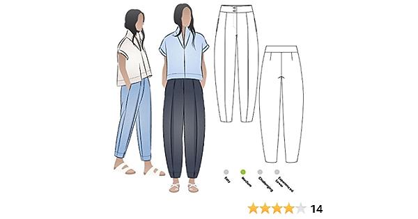 Veste tiss/ée Adelaide tailles 04/–16 Style Arc Patron de couture