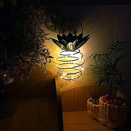 DIKHBJWQ Outdoor Lichterkette Solar String Light Fairy Tischlampe Vintage Leuchtkäfer Lichter Ananas Stil Dekor Home Patio Yard Nachttischlampe