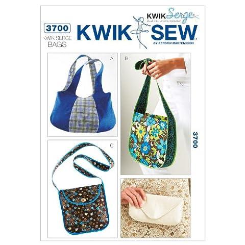 Kwik Sew Patterns K3700 Kwik Serge Bags, Pack of 1, White