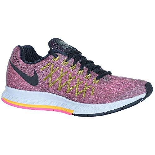 Nike Wmns Air Zoom Pegasus 32 - tmbld gry/blck-lsr orng-pnk pw tumbled grau schwarz laser orange rosa stärke 008