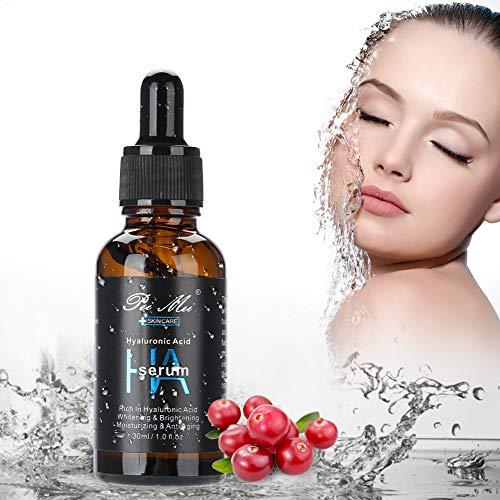 Anti-Aging Hyaluronsäure Serum, 30ml Feuchtigkeitsserum natürliche Retinol Serum, Hyaluronsäure Konzentrat für gegen Falten, Gesichtsserum mit organischen Inhaltsstoffen für alle Hauttypen
