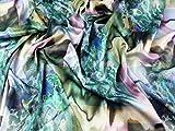 Abstrakt Print Stretch Satin Kleid Stoff