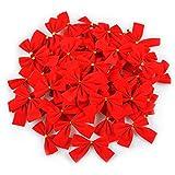 Turelifes 60pcs Fiocchi di Albero di Natale Mini Red Velvet Bowknot 2.5 '' Xmas Tree Ornaments Regalo del Partito Arredamento Fai da Te