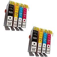Prestige Cartridge HP 920XL 8 Cartucce d'Inchiostro Compatibile per Stampanti