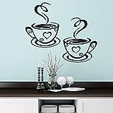 ISHOWTIENDA Wallpaper Adesivo De Parede Coffee Cups Kitchen Wall Stickers Cafe Vinyl Art Decals Pub Cafe Bedroom Home Decals