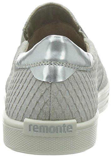 Remonte Dorndorfd0000 - Mocassini Donna Grigio (Grau (kreide/argento / 80))
