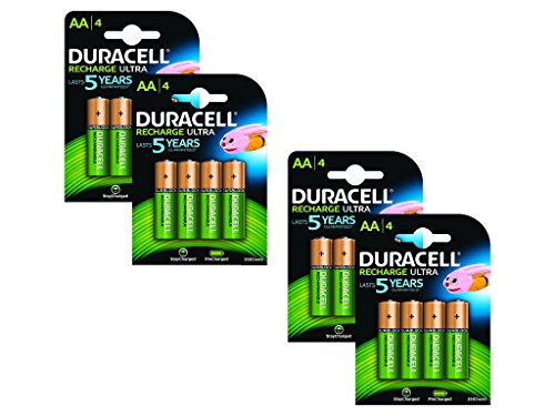 Duracell Pre Charged Rechargeable 2400mAh AA Batteries - Pack of 16 (Duracell Pre-charged)
