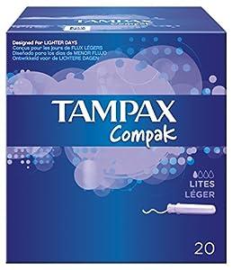 Tampax Compak Lites Applicator Tampons - 20 Tampons