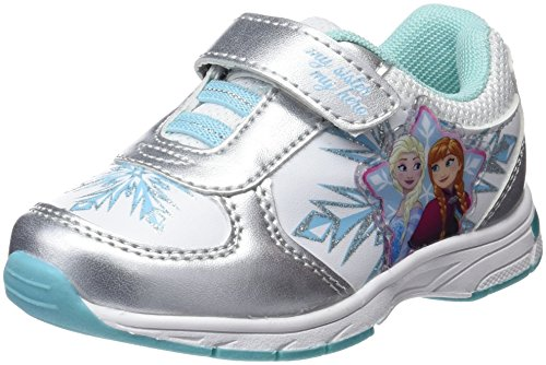 Frozen Girls Kids Athletic Sport, Zapatillas de Cross para Niñas, Plateado (Silver), 28 EU