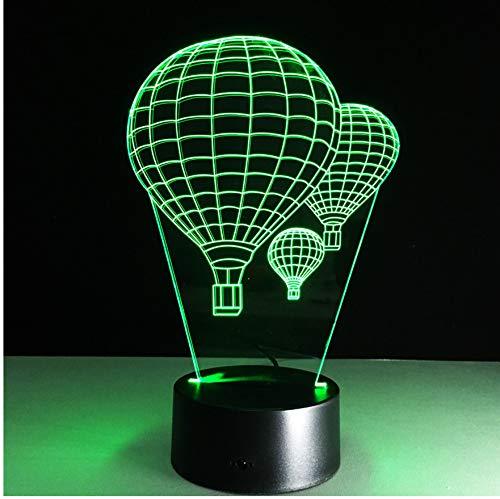 7 Farbe Heißluft Ballon Lampe 3D Visuelle Led-nachtlichter Für Kinder Touch Usb Tabelle Baby Schlafen Nachtlicht
