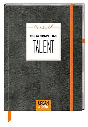 Notizbuch - Notebook ORGANISATIONSTALENT (Stoffeinband)