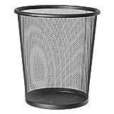 EUROXANTY cestino per la carta | 28 x 26 cm | Pattumiera nera circolare | Cestino carta ufficio | In rete | Griglia metallica | 12 L