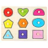 Zerodis Enfants Jouets Educatifs Géométrique Intellectuellen en Bois Puzzles d'Apprentissage Couleur Brillante pour Bébé Enfants d'âge Préscolaire Cadeau