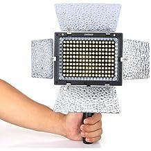 Yongnuo YN-160 II LED Lámpara Ligera de Video con MIC de Condensador para Canon Nikon Pentax Cámara DV + Control Remoto