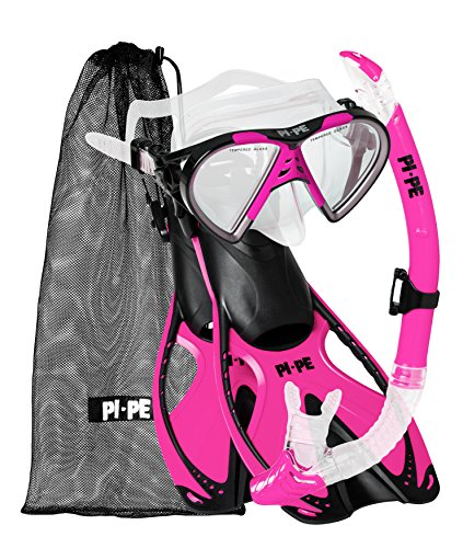 PI-PE Erwachsene Active Schnorchelset, Pink, S-M