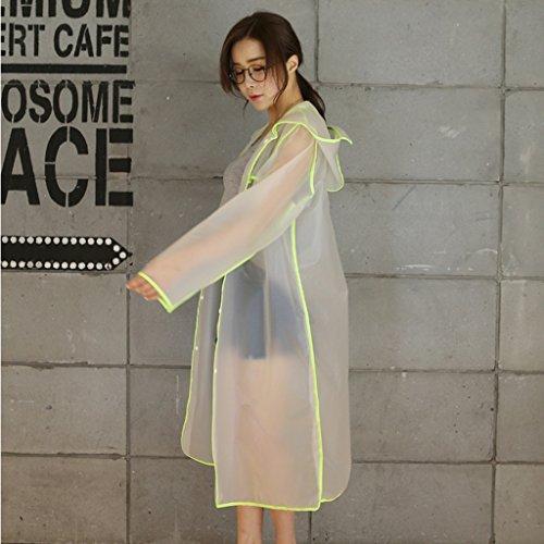 Matte transparent long raincoats homme et femme poncho extérieur pour adultes ( Couleur : C , taille : M ) C