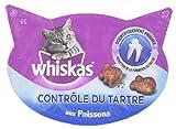 WHISKAS - Contrôle du tartre  - Friandises pour chats - Boîte de 40 g - Lot de 8