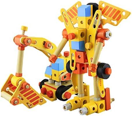 L'écrou en Bois De Vis Fixe Les Jouets Éducatifs De Bébé, Le Robot 3D De Puzzle Et Le Véhicule De Construction, Coloré Femmeipulant Le Jeu en Bois De Jeux De Perles en Bois 100 Pcs | Design Attrayant