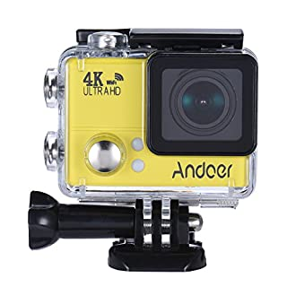 Andoer 4K 1080P 60FPS Full-HD-DV 2.0in LTPS LCD-Schirm Wifi Wasserdicht 45M 170 ° Weitwinkel Außen Action Sports Kamera Videokamera Digital Cam Video-Auto-DVR
