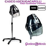 CASCO CAPELLI PROFESSIONALE ACROBAT MADE ITALY PARRUCCHIERI NERO O BIANCO (BIANCO)