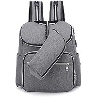 Bolsa de pañales mochila mochila multifunción bolsa de mamá auriculares usb Bolsa de mamá a prueba