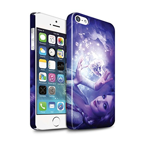 Officiel Elena Dudina Coque / Clipser Brillant Etui pour Apple iPhone SE / Pack 5pcs Design / Caractère Conte Fées Collection Cour Gelé
